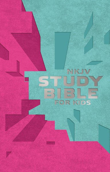 NKJV Study Bible for Kids Pink/Teal Cover