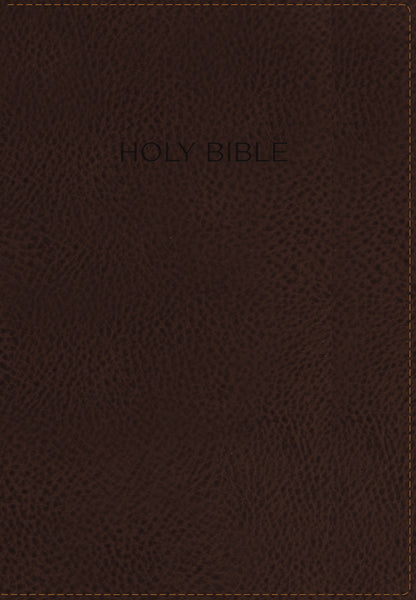 KJV, Foundation Study Bible, Leathersoft, Brown, ThumbIndexed, Red Letter Edition