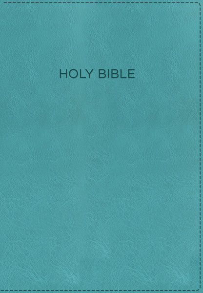KJV, Foundation Study Bible, Leathersoft, Turquoise, Indexed, Red Letter Edition