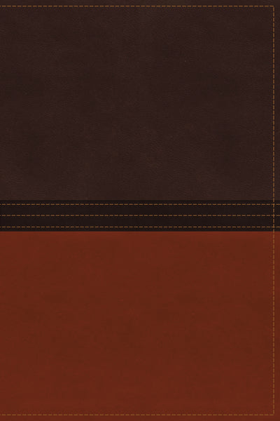 The NASB, MacArthur Study Bible, Leathersoft, Brown/Orange, Thumb Indexed