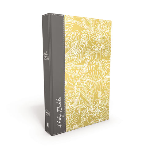 NKJV, UltraSlim Reference Bible, Hardcover, Yellow/Gray, Thumb Indexed, Red Letter Edition