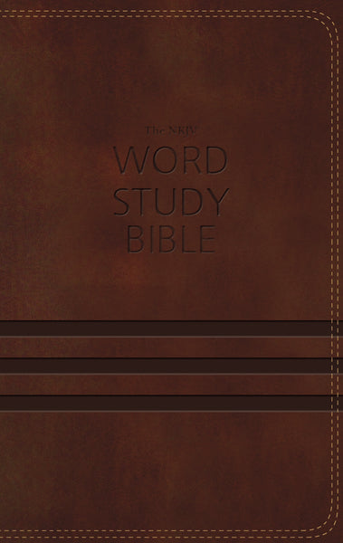 NKJV Word Study Bible, Leathersoft, Brown