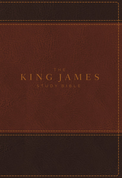 KJV, The King James Study Bible, Leathersoft, Brown, Thumb Indexed, Red Letter, Full-Color Edition