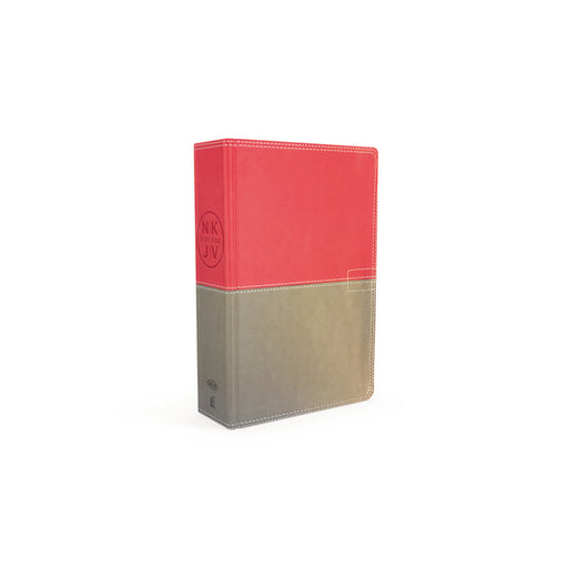 The NKJV Study Bible, Personal Size, Leathersoft, Pink/Gray, Red Letter, Full-Color Edition