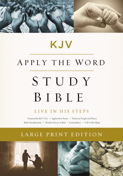 KJV, Apply the Word Study Bible, Large Print, Leathersoft, Pink/Cream, Red Letter Edition