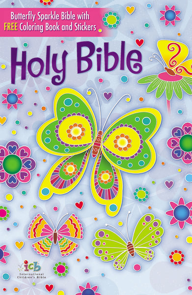 The ICB, Butterfly Sparkle Bible, Hardcover