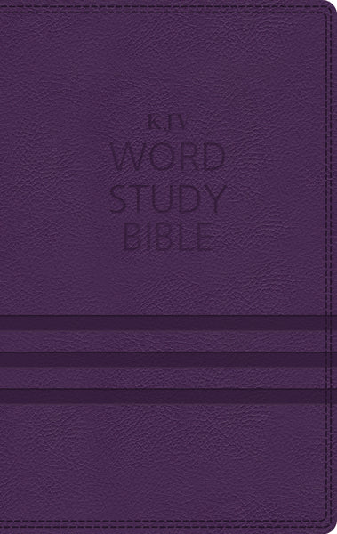 KJV, Word Study Bible, Leathersoft, Purple, Thumb Indexed, Red Letter Edition
