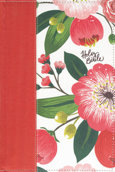 The NKJV, Woman's Study Bible, Cloth over Board, Pink Floral, Full-Color, Red Letter, Thumb Indexed
