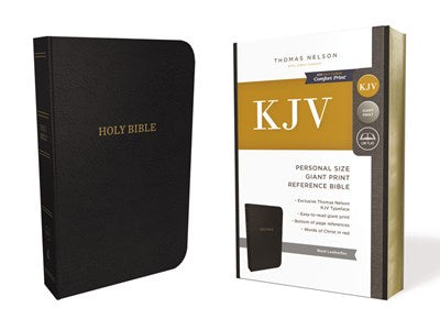 KJV, Reference Bible, Personal Size Giant Print, Leather-Look, Black, Red Letter Edition, Comfort Print