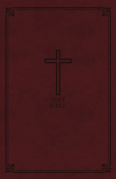 KJV, Reference Bible, Personal Size Giant Print, Leathersoft, Burgundy, Thumb Indexed, Red Letter Edition, Comfort Print