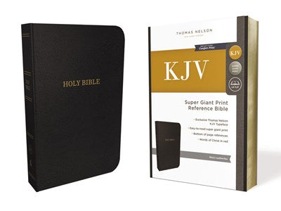 KJV, Reference Bible, Super Giant Print, Leather-Look, Black, Red Letter Edition, Comfort Print