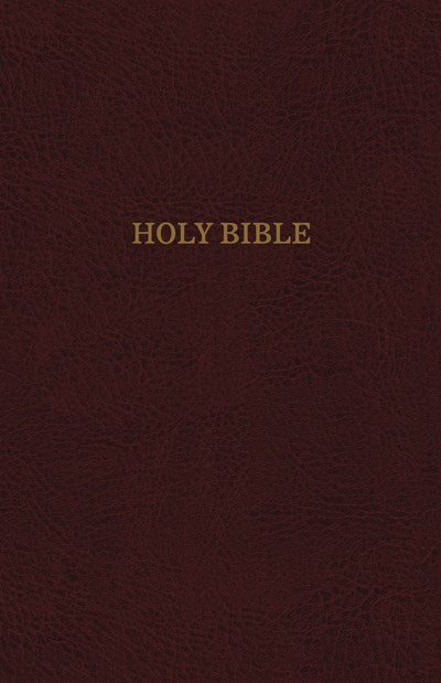 KJV, Reference Bible, Super Giant Print, Leather-Look, Burgundy, Thumb Indexed, Red Letter Edition, Comfort Print