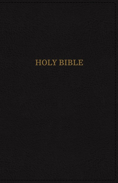 KJV, Deluxe Reference Bible, Super Giant Print, Leathersoft, Black, Thumb Indexed, Red Letter Edition, Comfort Print
