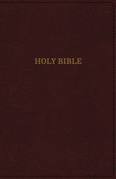 KJV, Deluxe Reference Bible, Super Giant Print, Leathersoft, Burgundy, Thumb Indexed, Red Letter Edition, Comfort Print