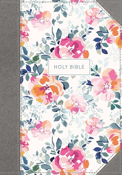 KJV, Journal the Word Bible, Cloth over Board, Pink Floral, Red Letter Edition, Comfort Print