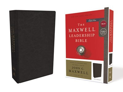 NKJV, Maxwell Leadership Bible, Third Edition, Leathersoft, Black, Comfort Print