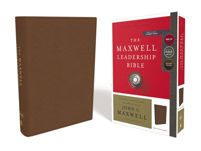 NKJV, Maxwell Leadership Bible, Third Edition, Premium Cowhide Leather, Brown, Comfort Print