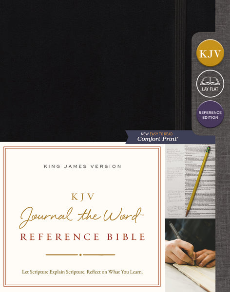 KJV, Journal the Word Reference Bible, Hardcover, Black, Red Letter Edition, Comfort Print