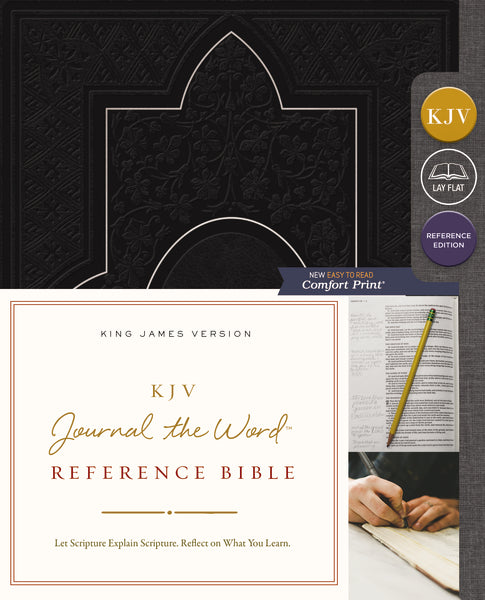 KJV, Journal the Word Reference Bible, Leathersoft, Black, Red Letter Edition, Comfort Print