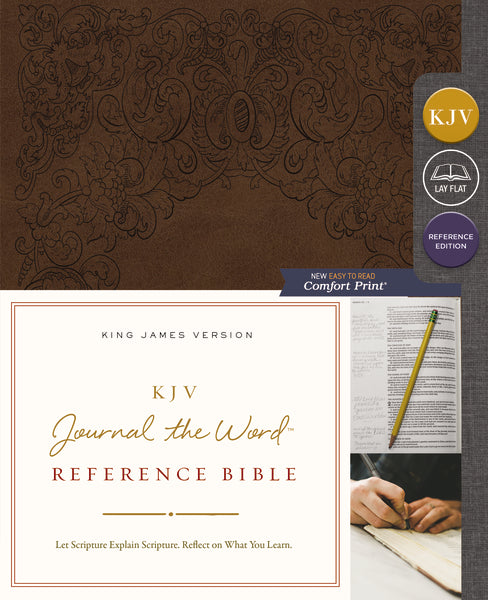KJV, Journal the Word Reference Bible, Leathersoft, Brown, Red Letter Edition, Comfort Print
