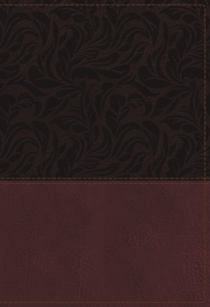 NKJV Study Bible, Leathersoft, Red, Full-Color, Thumb Indexed, Comfort Print