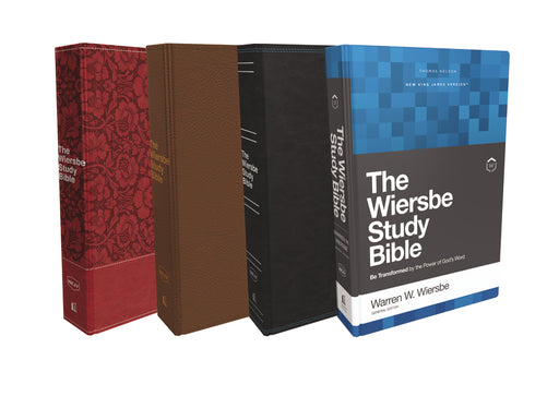 NKJV, Wiersbe Study Bible, Hardcover, Red Letter Edition, Comfort Print