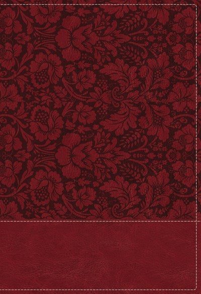 NKJV, Wiersbe Study Bible, Leathersoft, Burgundy, Thumb  Indexed, Red Letter Edition, Comfort Print