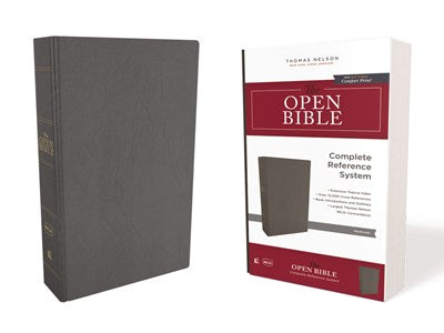 The NKJV, Open Bible, Hardcover, Red Letter Edition, Comfort Print