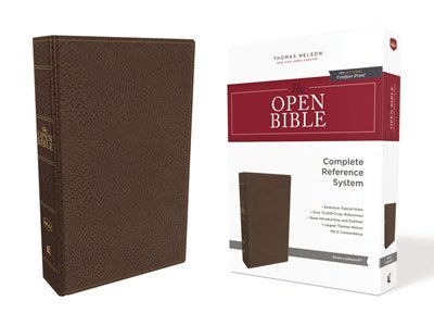 The NKJV, Open Bible, Leathersoft, Brown, Red Letter Edition, Comfort Print
