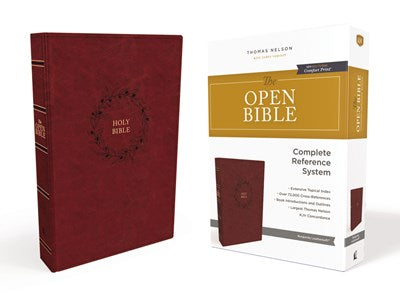 The KJV, Open Bible, Leathersoft, Burgundy, Thumb Indexed, Red Letter Edition, Comfort Print