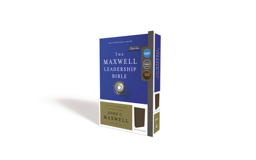 NIV, Maxwell Leadership Bible, 3rd Edition, Genuine Leather, Brown, Comfort Print