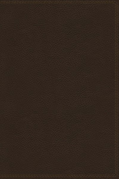 KJV, Charles F. Stanley Life Principles Bible, 2nd Edition, Genuine Leather, Brown, Thumb Indexed, Comfort Print