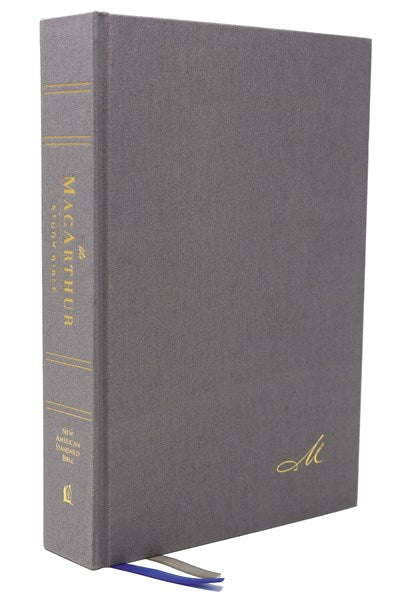 NASB, MacArthur Study Bible, 2nd Edition, Hardcover, Gray, Comfort Print