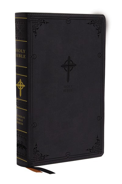 NABRE, New American Bible, Revised Edition, Catholic Bible, Large Print Edition, Leathersoft, Black, Comfort Print