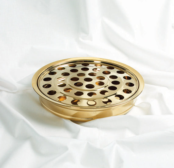 Communion Cup Tray And Insert Brass Colour