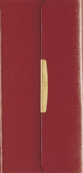 NKJV, Checkbook Bible, Compact, Bonded Leather, Burgundy, Wallet Style, Red Letter Edition
