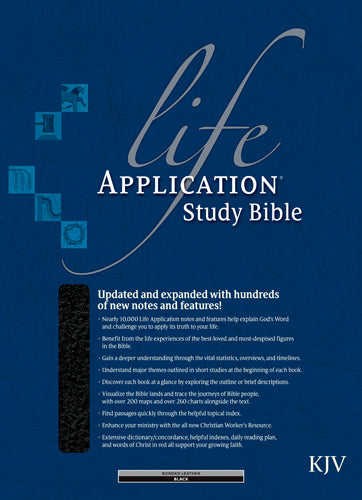 KJV Life Application Study Bible, Second Edition (Red Letter, Bonded Leather, Black, Indexed)