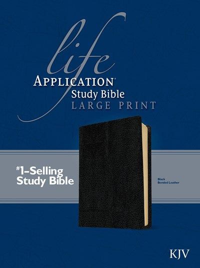 KJV Life Application Study Bible, Second Edition, Large Print (Red Letter, Bonded Leather, Black)