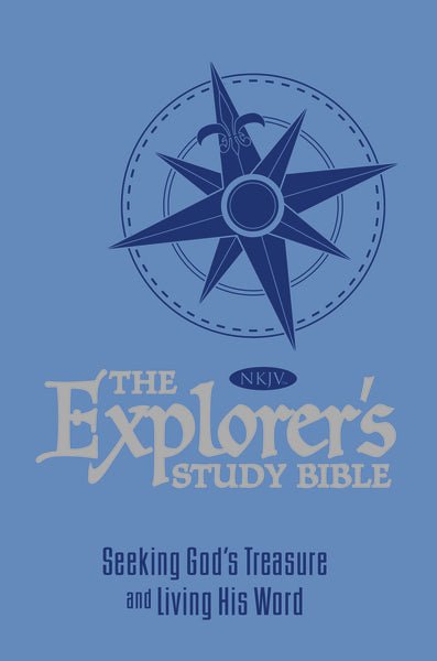 The NKJV, Explorer's Study Bible, Leathersoft, Blue