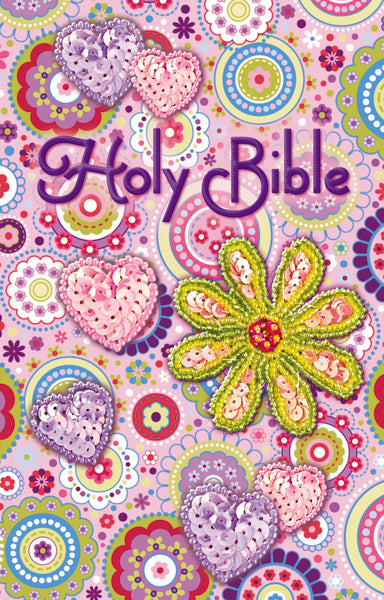ICB, Sequin Bible, Flexcover, Pink