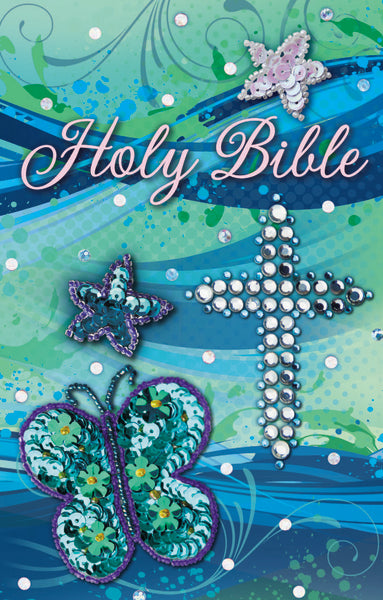 ICB, Sequin Bible, Flexcover, Teal