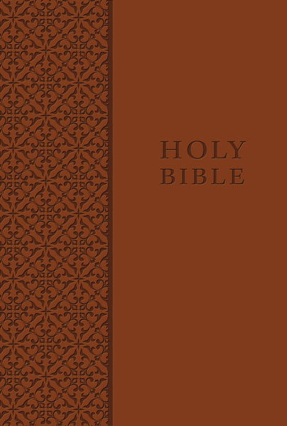 KJV Study Bible, Personal Size, Leathersoft, Brown, Red Letter Edition