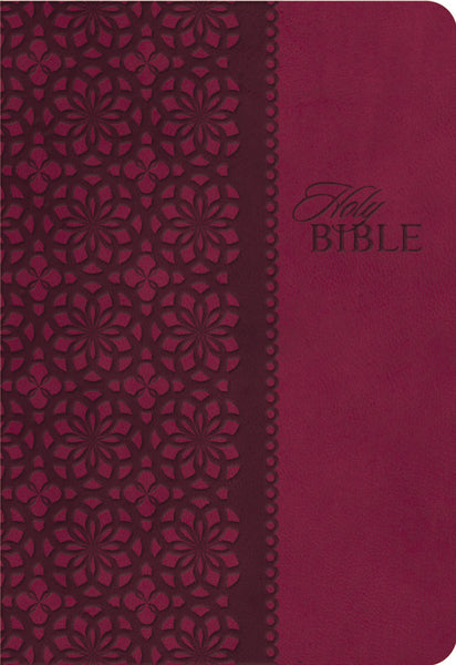 KJV Study Bible, Leathersoft, Red/Pink, Red Letter Edition