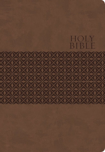 KJV Study Bible, Large Print, Leathersoft, Brown, Red Letter Edition