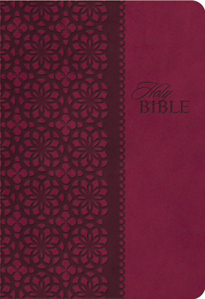 KJV Study Bible, Leathersoft, Red/Pink, Thumb Indexed, Red Letter Edition