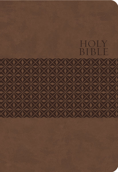 KJV Study Bible, Leathersoft, Brown, Thumb Indexed, Red Letter Edition