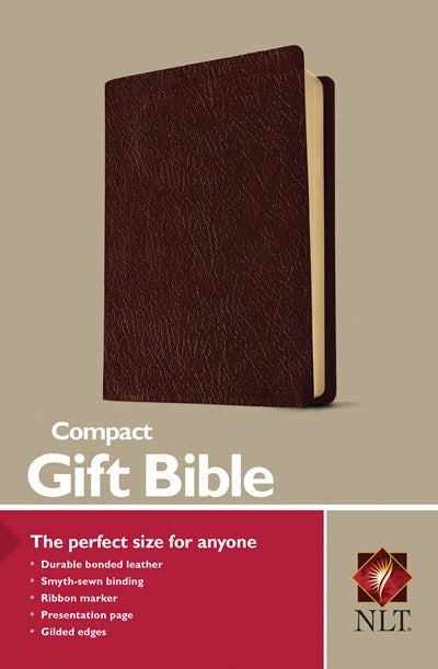 Compact Gift Bible NLT (Bonded Leather, Burgundy/maroon)