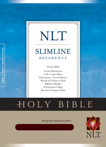 Slimline Reference Bible NLT (Red Letter, Bonded Leather, Burgundy/maroon)