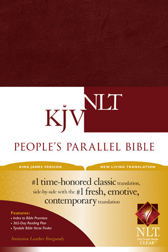 People's Parallel Bible KJV/NLT (Imitation Leather, Burgundy/maroon)