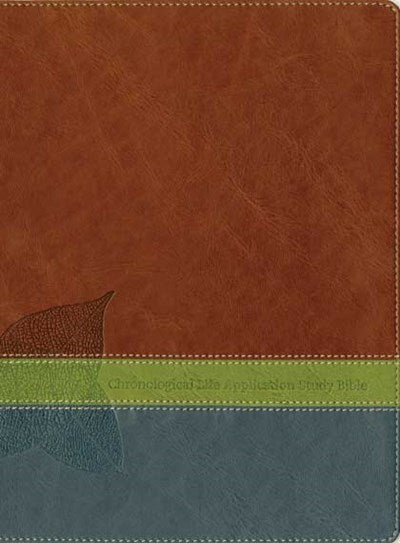 NLT Chronological Life Application Study Bible, TuTone (LeatherLike, Brown/Green/Dark Teal)